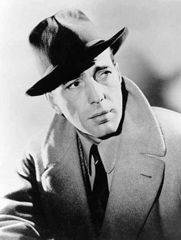 Humphrey Bogart in black and white