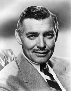 Black and white portrait of Clark Gable