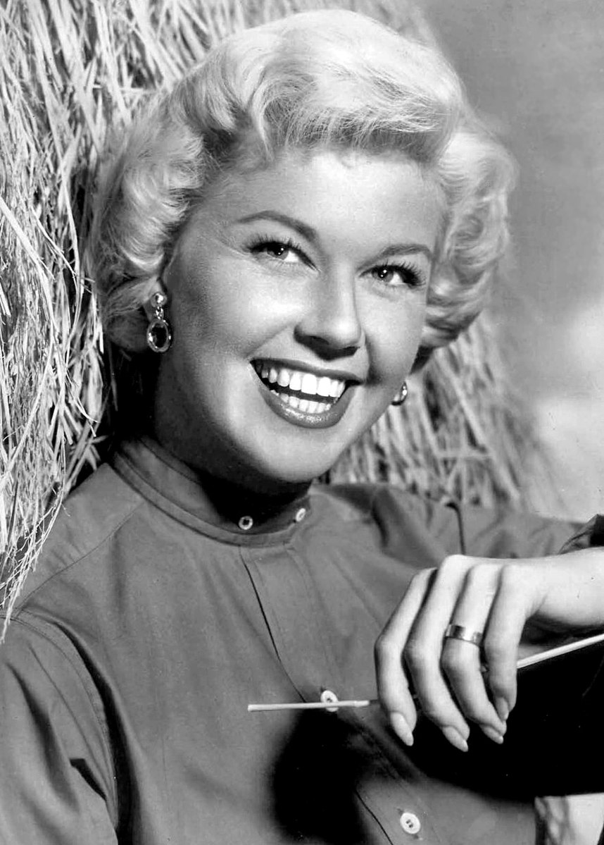 Black and White portrait of Doris Day