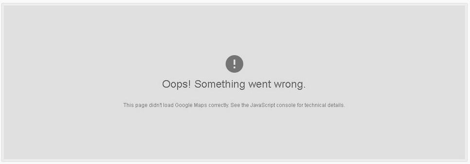 """Oops! Something went wrong"" error"