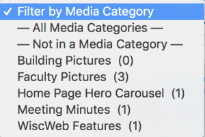 Media categories for the Media Library in the WordPress