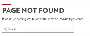 403: Page Not Found Error