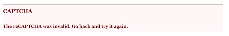 reCAPTCHA error - session invalid